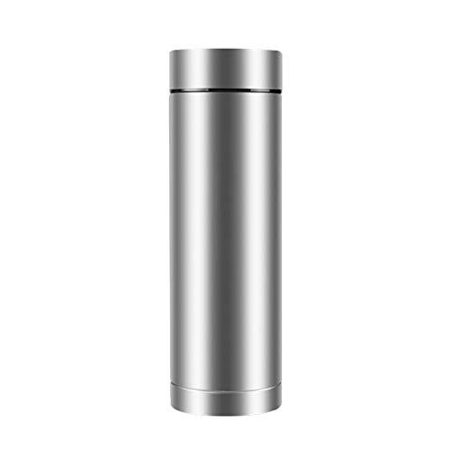 Botella de agua de titanio puro, ligera botella de doble par