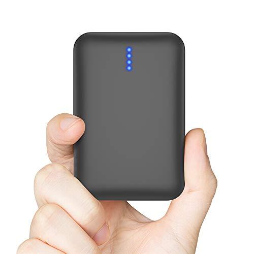 Luvfun Batterie Externe 10000mAh, Power Bank Chargeur Portable 2 Ports USB Portable Chargeur de Batterie pour Tous Les Smartphones- Noir