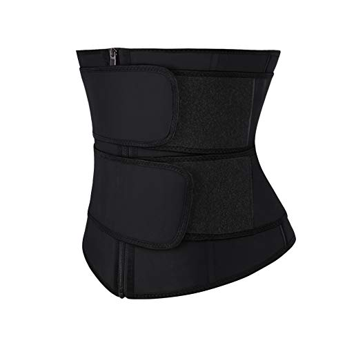 FEDNON Women Firm Control Waist Trainer Cincher Girdle Latex Workout Steel Boned Body Shaper - Black - 4X-Large