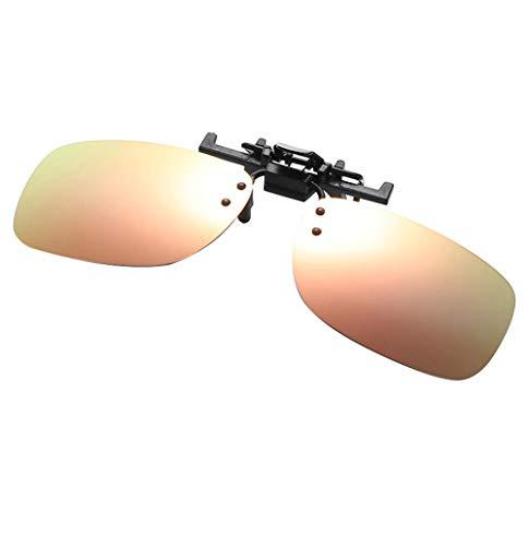 Blendschutzbrille für die Nacht Fahren trifft auf den Ergonomic Men's Portable Sunglasses Clip E Pulver Quecksilber