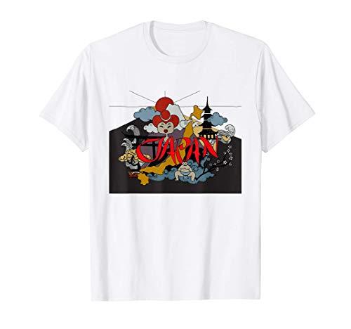 JAPÓN BONSAI, SUMO, TEMPLE & MT FUJI EN ARTE VINTAGE Camiseta
