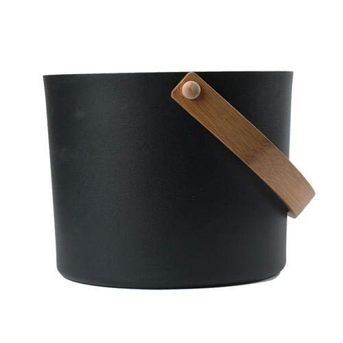 Sauna Bucket, Bathroom Natural Bath Accessories Premium Dry Steam Room Sauna Bucket with Ladle, Hot Tubs Supplies Sauna Room Accessories(7L),Bucket + Ladle