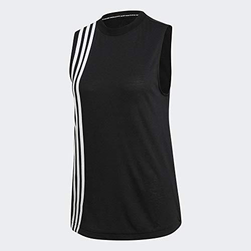 adidas W Mh 3s Tank Camiseta sin Mangas, Mujer, Black/White, M