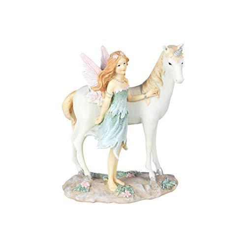 SIGRIS Decor and Go Hada con Unicornio Figuras Fantasía Colección Romántico