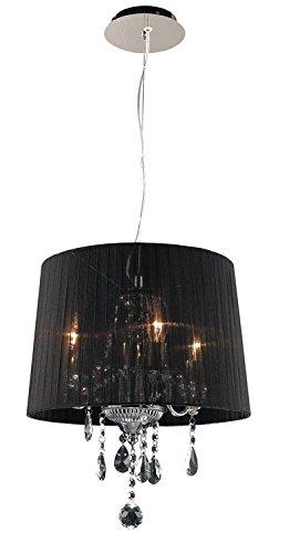Design by Grönlund 9357/3/BLACK kristallen kroonluchter klein, zwart chroom, E14
