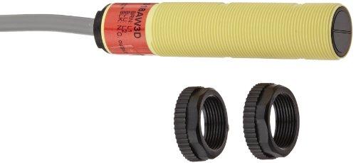 Banner S18AW3D EZ czujnik w stylu beczki, tryb wykrywania dyfuzora, kabel 3-przewodowy z PCW, 2 m, LED na podczerwień, 20-250 VAC, zakres czujnika 100 mm