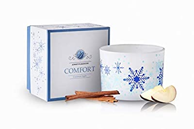 Aubert & Amandine Luxury Scented Soy 3 Wick Candle for Stress Relief & Relaxation High Intensity Aromatherapy