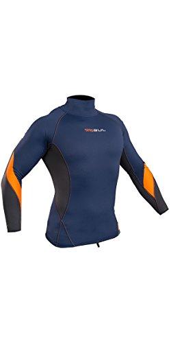 GUL Xola Manches Longues Rapide à Dry Rash léger Gilet de Blue Orange - UV Protection Contre Le Soleil et Les propriétés de SPF