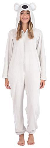 Body Candy Women's Plush Adult Animal Hood Onesie Pajama (Koala, X-Large)