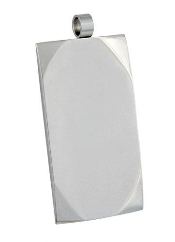 """Ten ANHÃ""""NGER Stahl MILITÃ""""RPLAKETTE cod.EL24219 cm 3,8x2,1x0,2h by Varotto & Co."""