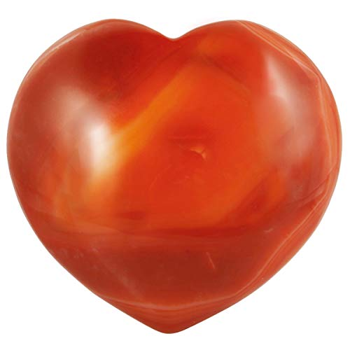 mookaitedecor Healing Crystals Heart Love Worry Palm Stone Reiki Balancing 1.7 inches,Carnelian