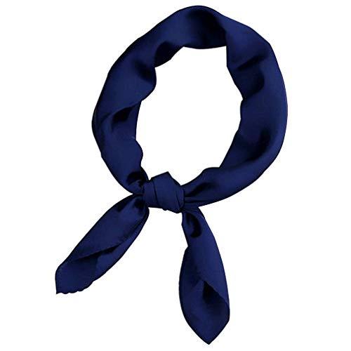 Plaza de satén de seda las mujeres Feel mantón de la bufanda pequeña llanura Pañuelo Pañuelo de cabeza y cuello de la venda del lazo del pelo color sólido