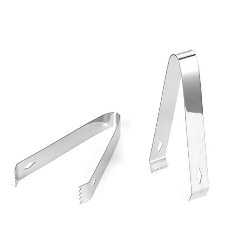 USATDD 2 Pack Stainless Steel Ice Tongs Sugar Tongs for Party Kitchen Serving and Cooking 5.9 Inches