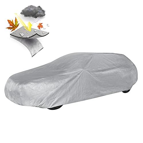 Walser 31015 Autoabdeckung Vollgarage Kombi Größe XL hellgrau, wasserdichte Ganzgarage, Staubdicht mit UV Schutz