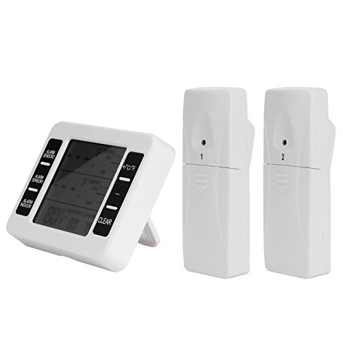 Fybida Práctico termómetro de Nevera Multifuncional LCD Digital Conveniente para el hogar(H)