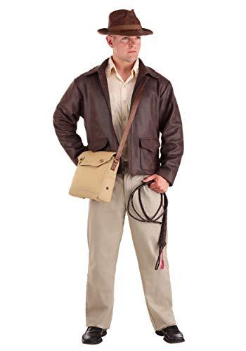 Indiana Jones - Disfraz premium para hombre, talla grande - marrn - XX-Large