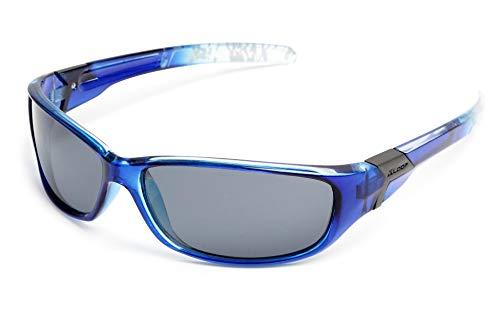 X-Loop®, polarisierte Sonnenbrille vom Fachmann, erlesener Modell fürs Skifahren, den Sport, zum Radfahren oder zum Laufen (Unisex, UV400), blau
