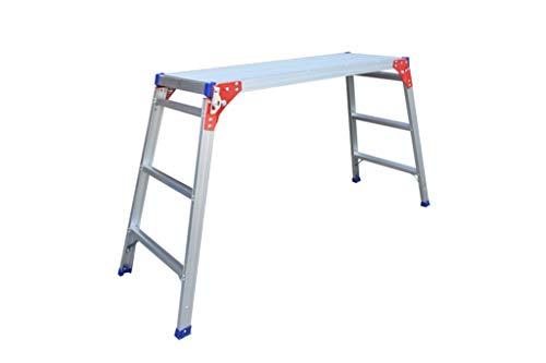 Bloemenwinkel Ladders Drie Step Ladder, verloopt in vier stappen Ladder van het aluminium Metal Home Jobs Platform/Fotografie Platform Ladder/Grote Load 330 Lbs Bouwbenodigdheden Ladders