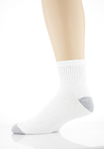 Gildan Men's Big and Tall Ankle Socks (10 Pair Pack), White, Shoe Size: 12-15