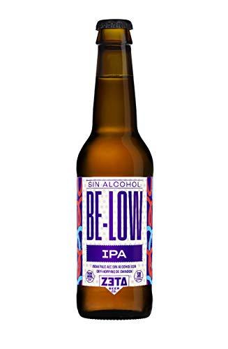 BELOW IPA SIN ALCOHOL 12 x 33cl. Pack de Cervezas Artesanas SIN ALCOHOL y SIN GLUTEN para Disfrutar de Todo el Sabor y Aroma de las Mejores IPA