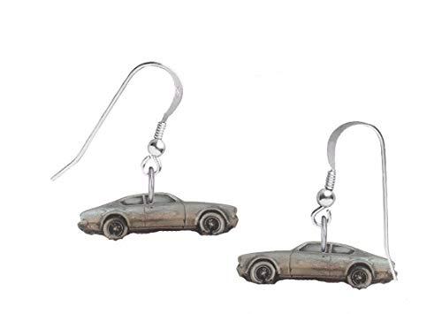 Oldtimer Opel Kadett ref172 auf Haken Ohrringe Sterling Silber 925 gestempelt