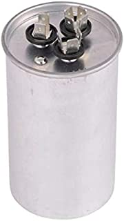 TOTALINE 40 + 5 MFD P291-4054RS 370 or 440 Volt Dual Run Round Capacitor made by Carrier for Condenser Straight Cool or Heat Pump Air Conditioner CBB65B
