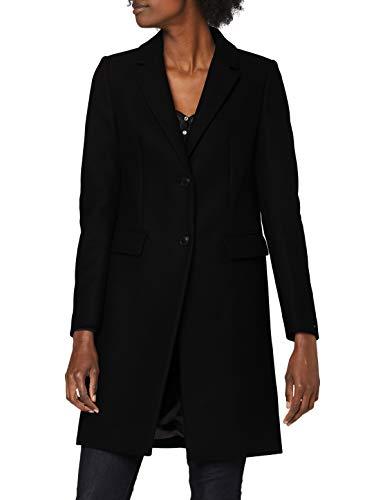 Tommy Hilfiger Damen Th Ess Wool Blend Classic Coat Jacke, Black, 38