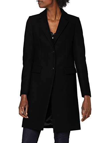 Tommy Hilfiger Damen Th ESS Wool Blend Classic Coat Jacke, Black, 34
