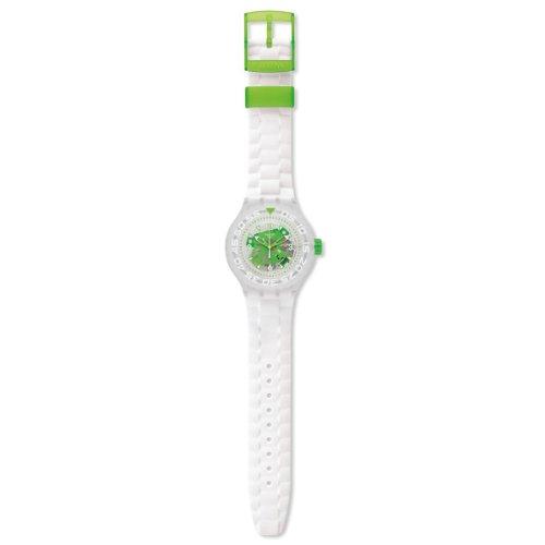 Swatch Herren-Armbanduhr XL Scuba Libre Clorofish Analog Quarz Silikon SUUK100