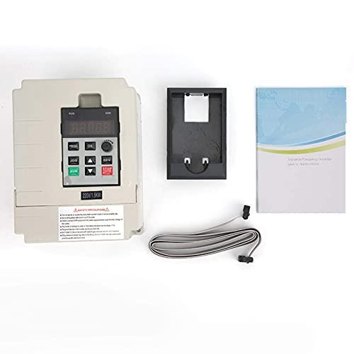 Inversor, variador de frecuencia de entrada monofásico variable, convertidor de frecuencia blanco, para la industria de elevadores de bombas de agua (1.5KW)