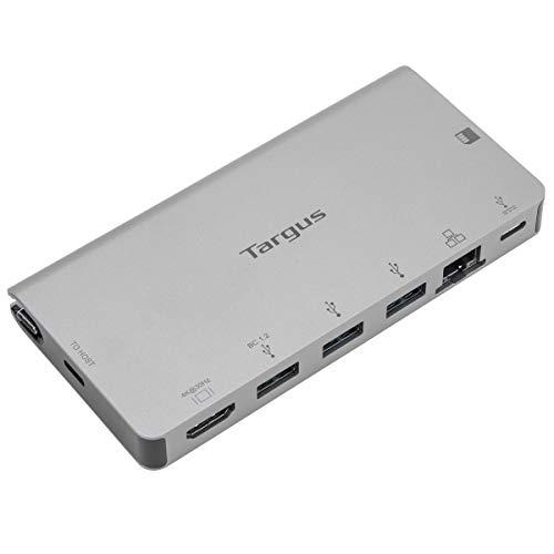 Targus DOCK414EU USB-C DP Alt-Mode Einzelvideo 4K HDMI Dockingstation mit Kartenleser, 100 W PD Pass-Thru und abnehmbarem USB-C-Kabel