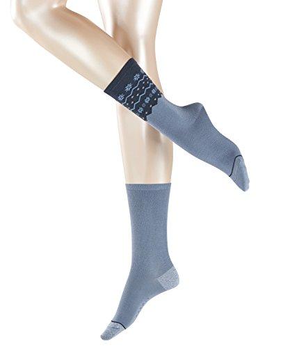 ESPRIT Damen Socken Norwegian 2er Pack - Baumwollmischung, 2 Paar, Blau (China Blue 6720), Größe: 35-38