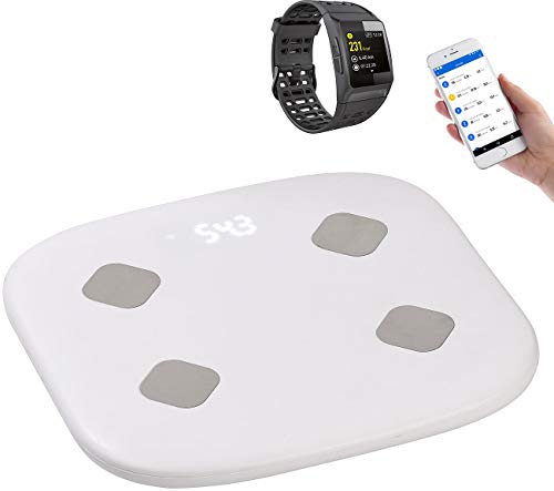 newgen medicals Watch: Fitness-Sportuhr mit GPS, Puls & WLAN-Personenwaage mit Körperanalyse (Smartwatch iOS)