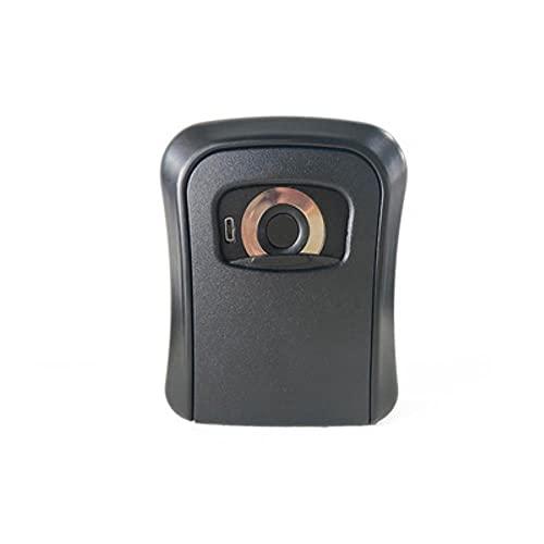 Caja de seguridad con llave inteligente para huellas dactilares APLICACIÓN Bluetooth Desbloqueo Caja de almacenamiento de llaves Aleación de aluminio montada en la pared para la oficina en casa-Negro
