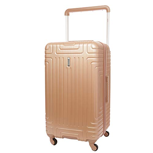 """Aerolite Large 28"""" ABS Hard Shell Check in Checked Hold Luggage Trolley Bag Suitcase with 4 Wheels (Rose Gold)"""