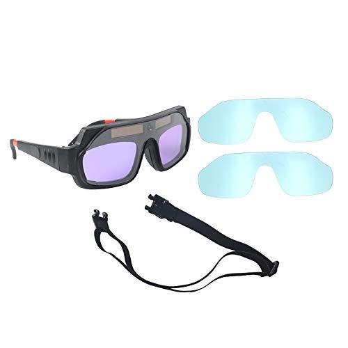 #N/a Gafas de soldadura de oscurecimiento automático de Color verdadero con marco ajustable de soldadura cómodo para pierna gafas antiniebla - Paquete de caja de papel