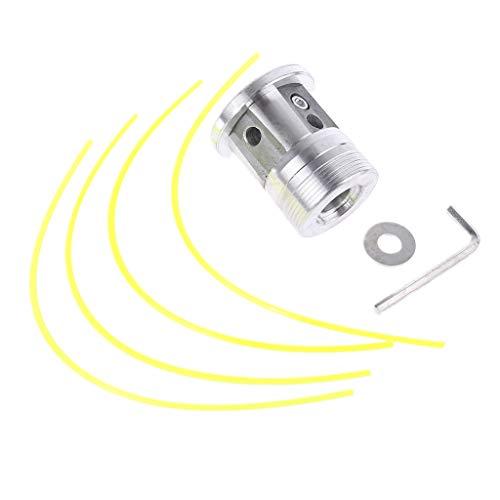 zhoujinf Cabezal de corte de césped de aluminio con 4 líneas, cabezal cortador de cepillo, hilo de nailon, cabezal de línea de corte para desbrozadora de repuesto