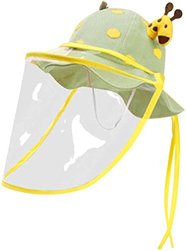 (Vert) soleil masque facial de protection Masque de sécurité capot amovible visière enfants GIRAFE de soleil chapeau pêcheur