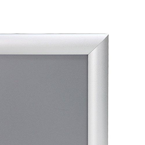 "VIZ-PRO A3 Silver Snap Frames / Clip Frames, Mitred Corner, 0.98"" Aluminum Profile Photo #2"