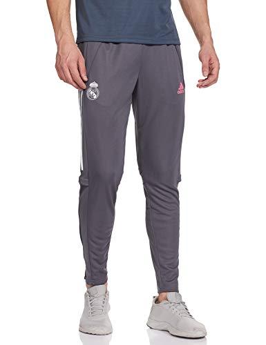 Real Madrid Adidas Saison 2020/21 Pantalon Long de survêtement Officiel – Pantalon Long d'entraînement Unisexe pour Adulte M Gris