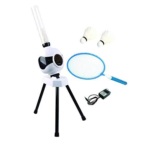 DSGYZQ Kinder im Freien Sport Spielzeug Eltern-Kind Interaktion Freizeit Unterhaltung Automatische Badminton Training Ball Maschine Sportgeräte,Weiß