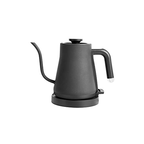 SXXYTCWL Fine-mouthed Hand-pushed Pot 304 Stainless Steel Large-caliber Coffee Pot Special Coffee Kettle Suitable for Home Office Hotel Coffee Pot Teapot (White) (Color : Black)