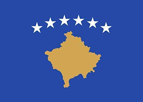 INERRA grote 150cm x 90cm vlaggen - Europese range - met 2 metalen ogen - 5ft X 3ft Kosovo