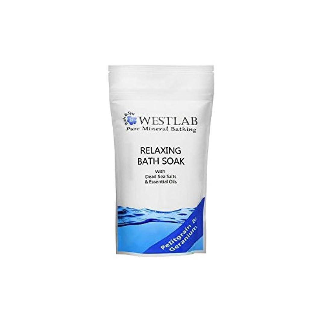 行列言語交差点死海の塩浴浸漬(500グラム)をリラックス x4 - Westlab Relax Dead Sea Salt Bath Soak (500g) (Pack of 4) [並行輸入品]