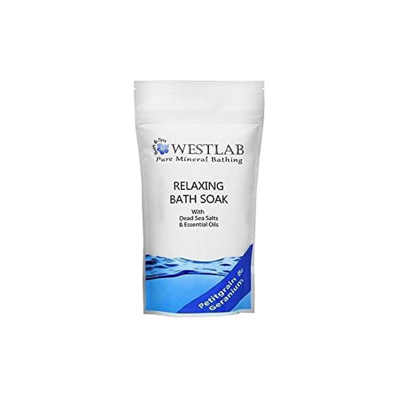 セールスマン早熟理容室死海の塩浴浸漬(500グラム)をリラックス x4 - Westlab Relax Dead Sea Salt Bath Soak (500g) (Pack of 4) [並行輸入品]