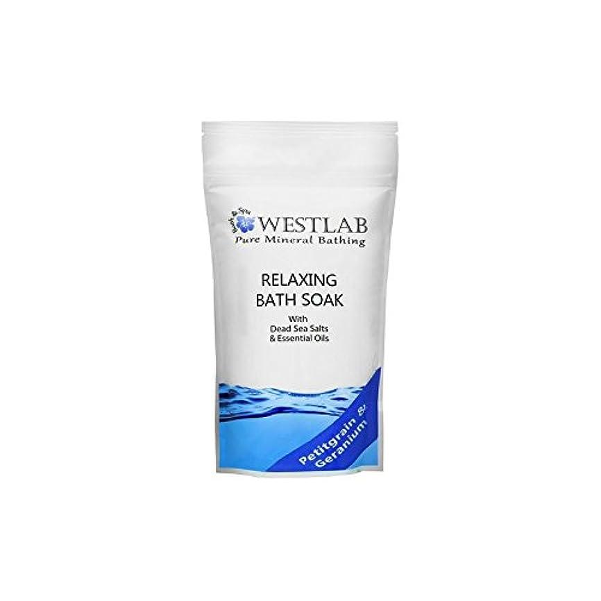 敬なシェーバー応じる死海の塩浴浸漬(500グラム)をリラックス x4 - Westlab Relax Dead Sea Salt Bath Soak (500g) (Pack of 4) [並行輸入品]