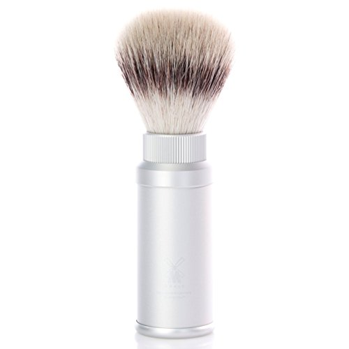 Mühle Travel - Brocha de afeitar de viaje (fibra Silvertip Fibre®, aluminio anodizado)