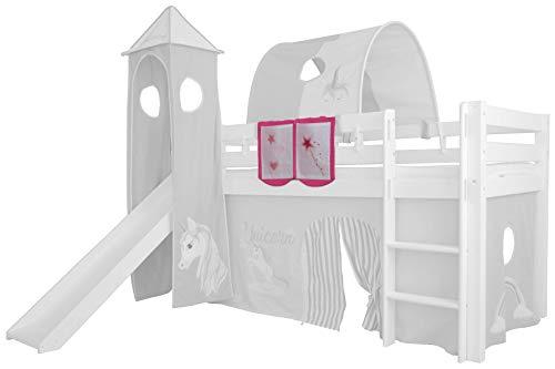 XXL Discount Sac de rangement pour lit d'enfant - Dimensions : 55 x 40 cm - 100 % coton - Accessoires de lit - Lit superposé - Lit mezzanine - Sac en tissu (rose/rose)