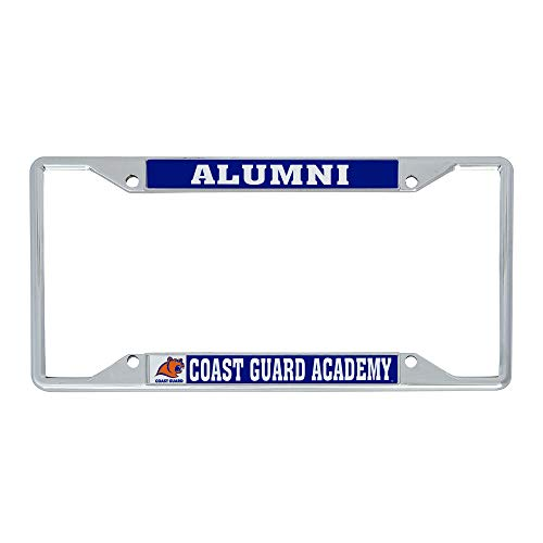 Desert Cactus United States Coast Guard Academy NCAA Metal License Plate Frame for Front or Back of Car Officially Licensed (Alumni)
