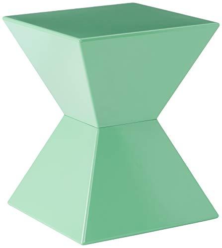 HAKU meubels bijzettafel van gegoten kunststof, hoogglans gelakt 35 x 35 x 43 cm mintgroen